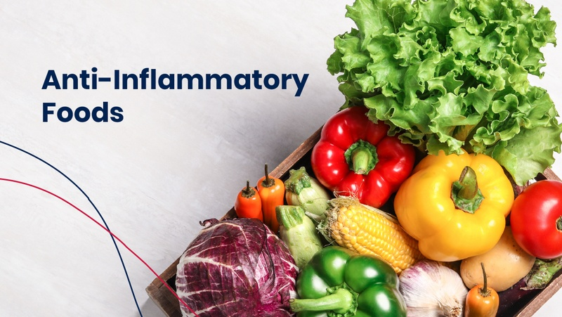 Box of anti-inflammatory foods