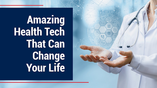 Doctor showing health technology