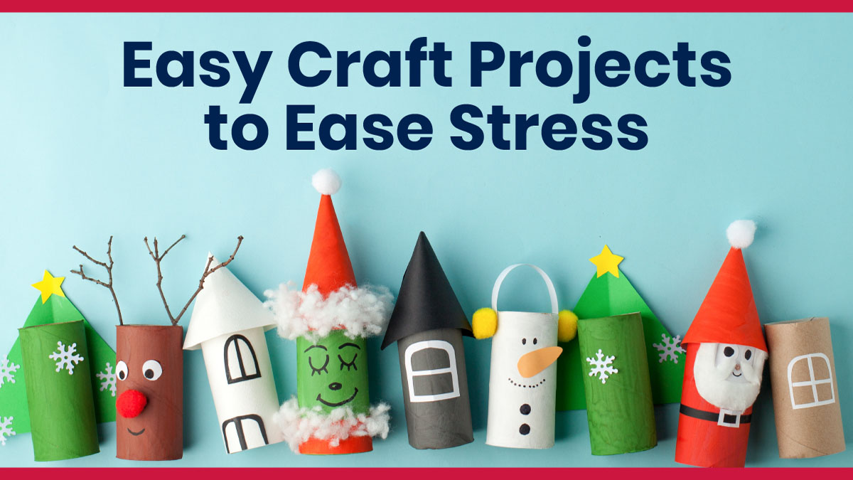 Set of craft projects to ease stress