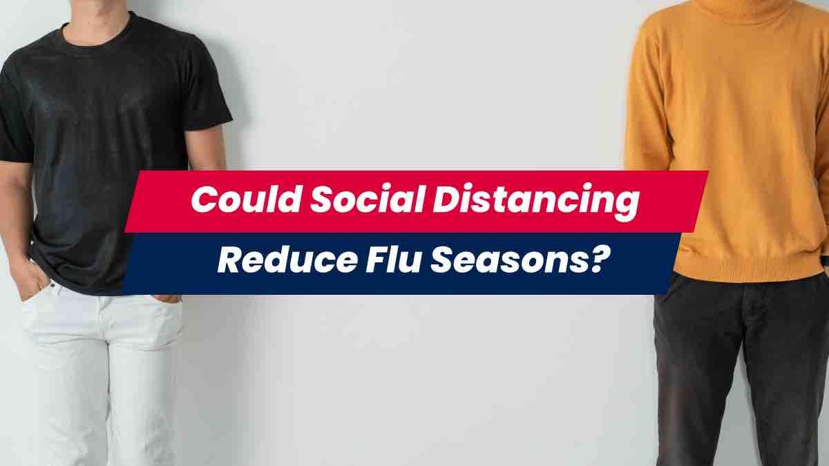 Two people social distancing during flu season