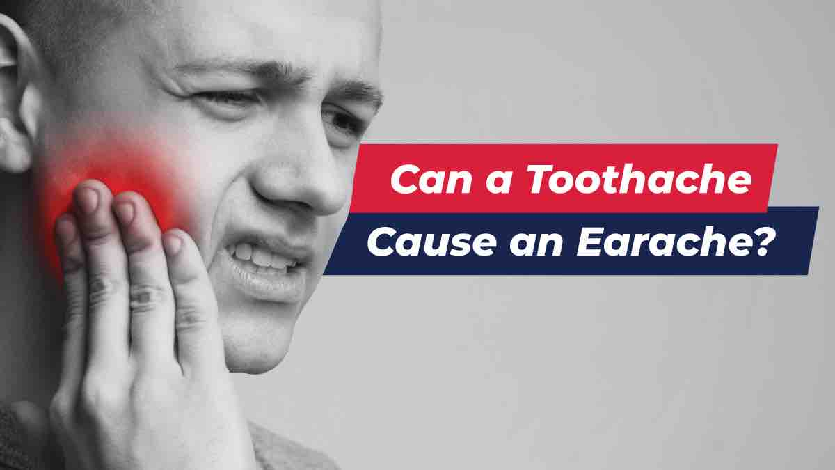 Man experiencing earache from a toothache