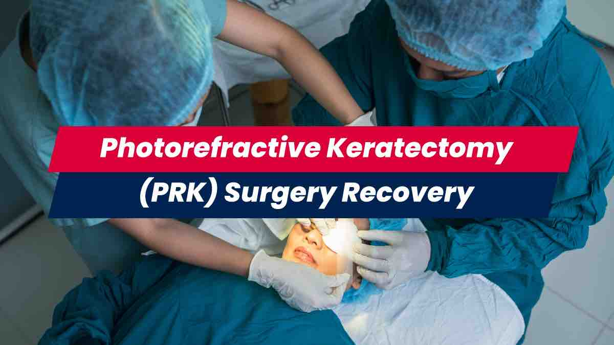 PRK surgery being performed